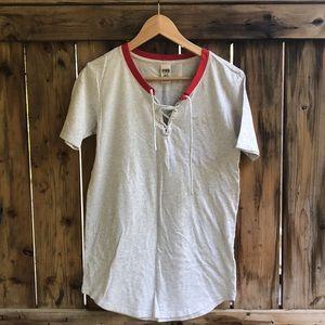 VICTORIA SECRET PINK xs gray sleeping shirt